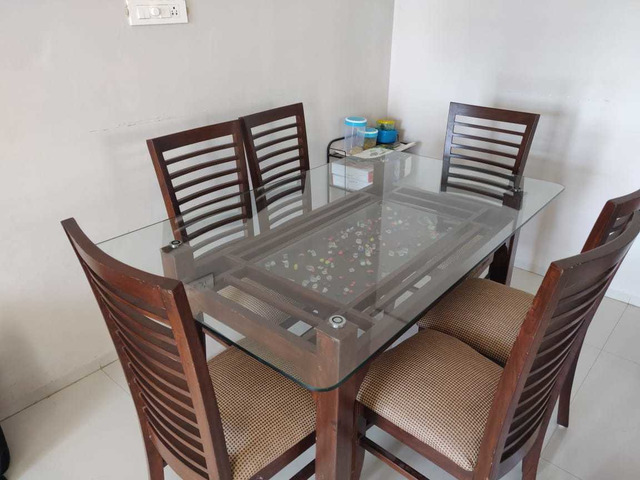 Glass Dining Table Set Buy Sell Used Products Online India Secondhandbazaar In