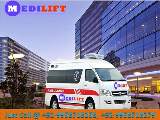 Top-Class Medilift Ventilator Ambulance in Patna at Low Fare - 1/1