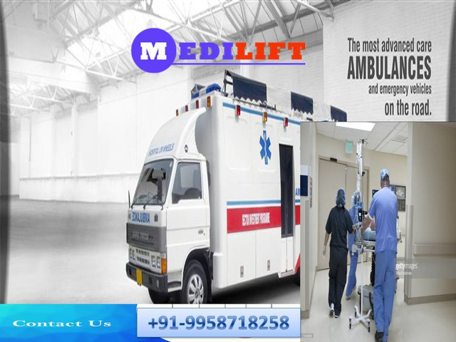Book 24*7*365 Days Medilift Ambulance in Patna with Medical Team - 1/1