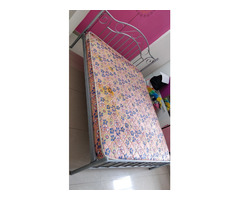 Selling Queen size Metal Bed and Mattress - Image 1/4