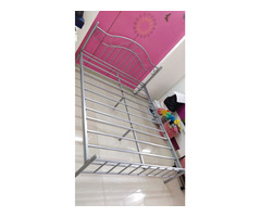 Selling Queen size Metal Bed and Mattress - Image 2/4