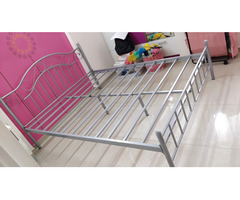 Selling Queen size Metal Bed and Mattress - Image 3/4