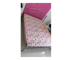 Selling Queen size Metal Bed and Mattress - Image 4/4