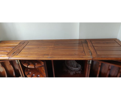 Teakwood Bar with folding top - Image 3/4