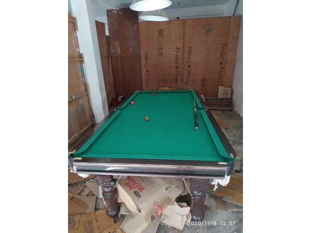 Pool table at cheap rate available at good condition . All the acccessories available - 6/10