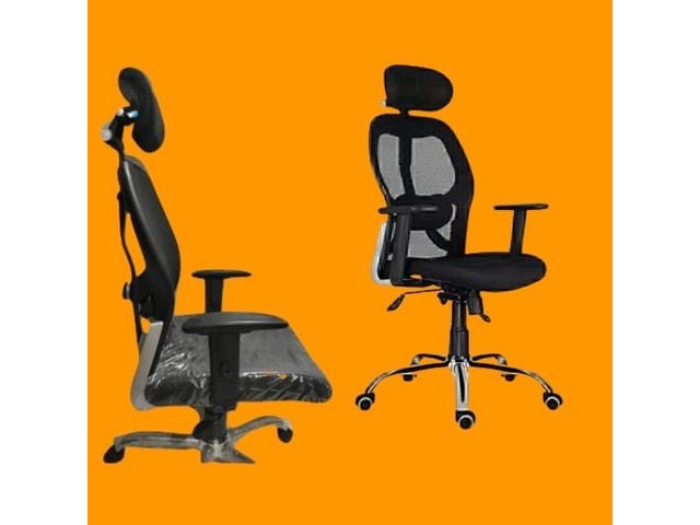 Chairs   Office Revolving Chairs   Chairs With HeadRest   Mesh Chairs - 1/4