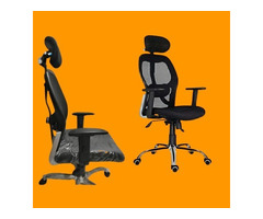 Chairs   Office Revolving Chairs   Chairs With HeadRest   Mesh Chairs - Image 1/4