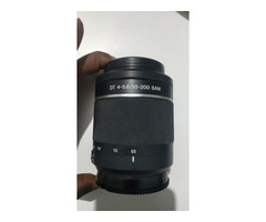 Sony Alpha 58 Lens 55-200, with Camera bag, battery, Charger and cables - Image 1/4