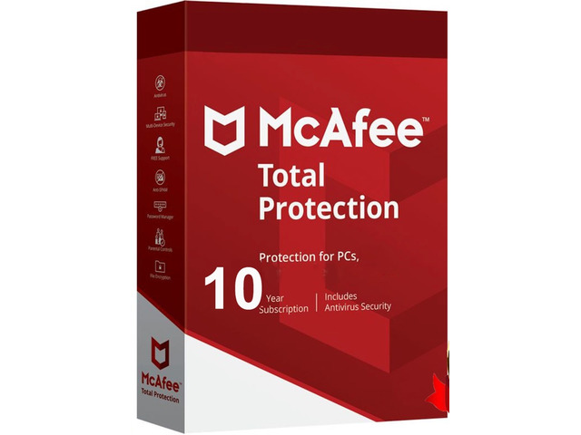 McAfee Total Protection 1 Device 10 Years Key - 1/1