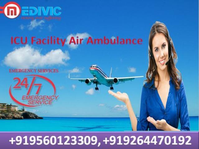 Top-Grade Air Ambulance Services in Kolkata by Medivic Aviation - 1/1