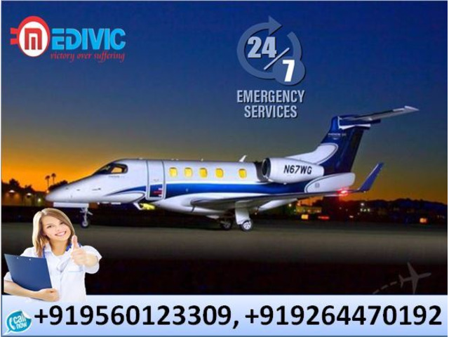 Book Medical Facility Air Ambulance in Kolkata with Doctor by Medivic - 1/1