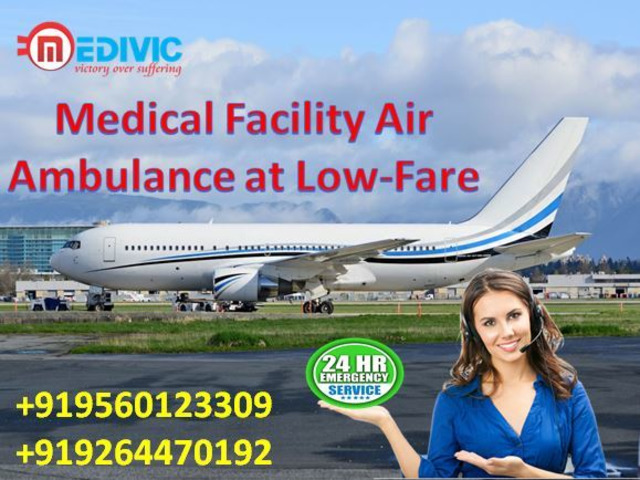 Marvelous Air Ambulance Services in Guwahati with ICU Setup by Medivic - 1/1