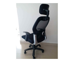 Office chair (almost new), study chairs 2 nos ( used ), single cot bed ( 4 X6ft), Symphony cooler - Image 5/5