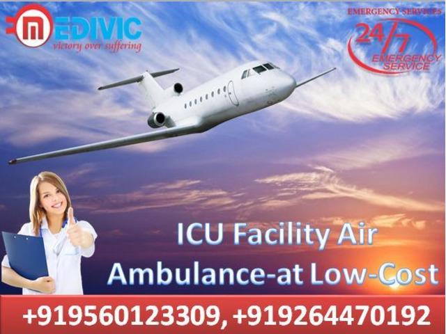 Medical Facility Air Ambulance in Kolkata- At Budget-Friendly by Medivic - 1/1