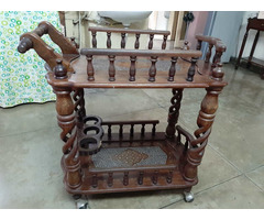 Wooden Food Trolley - Image 1/4
