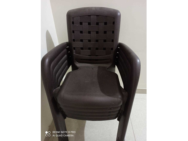 Plastic Chairs and Table - 1/3