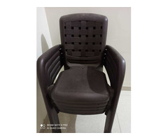 Plastic Chairs and Table - Image 1/3