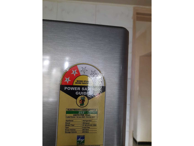 Refrigerator -Whirlpool Neo 280 Lit double door, frost free with two star rating - 1/1