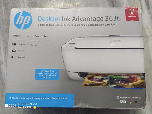 Hp DeskJet Ink Advantage 3636 Wireless All in One Printer - 5/5