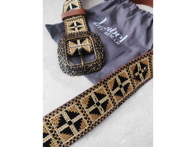 Label Ritu Kumar Tan Vintage Belt - 2/5