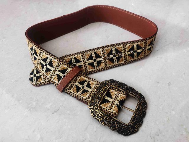 Label Ritu Kumar Tan Vintage Belt - 3/5