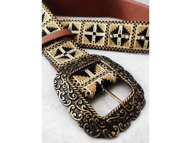 Label Ritu Kumar Tan Vintage Belt - 4/5