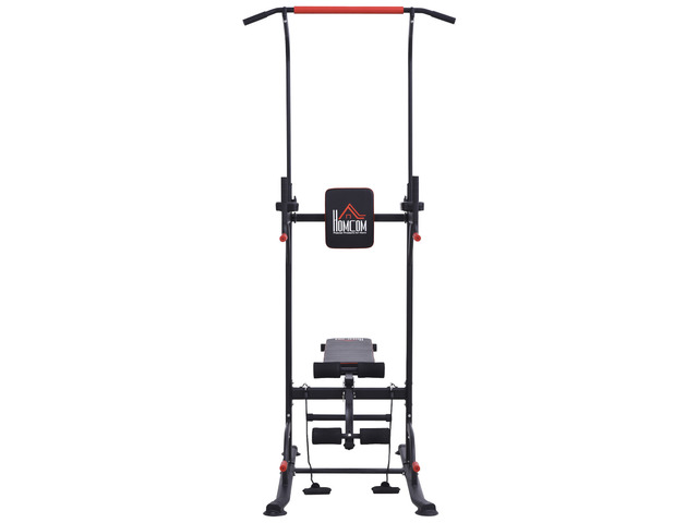 HOMCOM Power Tower Station for Home Gym Workout Equipment With Sit Up Bench - 3/3