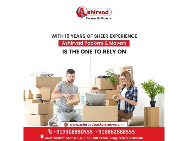 Ashirvad packers And movers in Muzaffarpur - Best packers and movers Muzaffarpur - 1/9