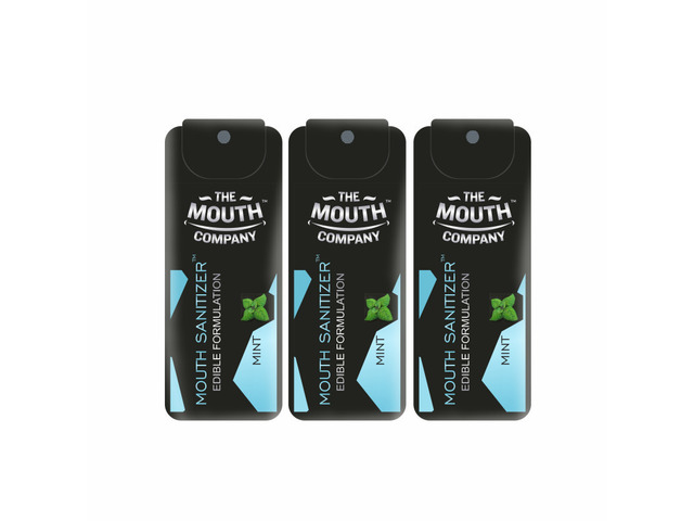 The Mouth Company Mouth Sanitizer Spray (Cool Mint) - World's First - Pack of 3 - 1/3