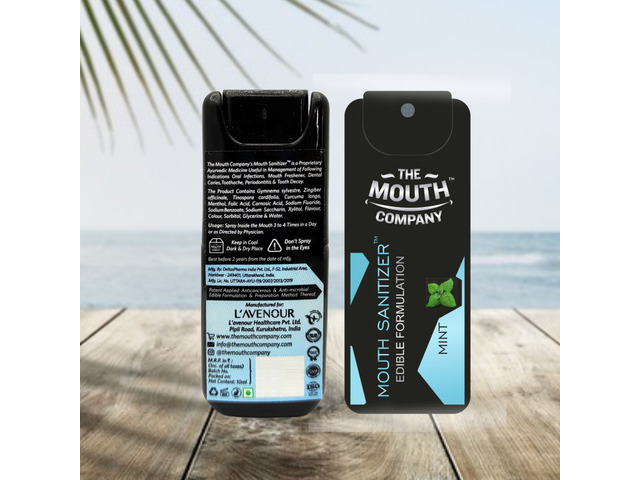 The Mouth Company Mouth Sanitizer Spray (Cool Mint) - World's First - Pack of 3 - 2/3