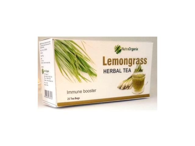 Buy Herbal Lemongrass Tea Bags Online For Anxiety - Nutraorganix - 1/2