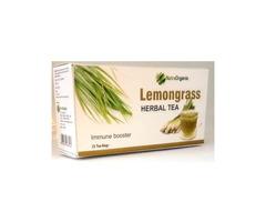 Buy Herbal Lemongrass Tea Bags Online For Anxiety - Nutraorganix - Image 1/2