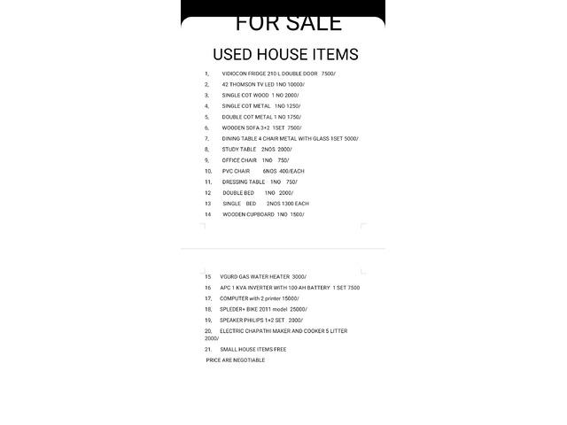 Full household items - 2/10