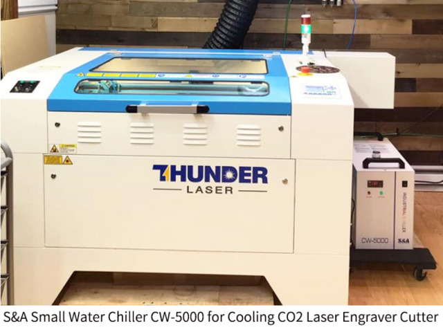 Small water chiller CW5000 for CO2 laser engraver cutter - 1/2