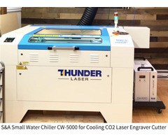 Small water chiller CW5000 for CO2 laser engraver cutter - Image 1/2