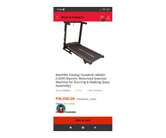 Maxpro Motorised Treadmill (Barely used for 1.5 months) - Image 1/3