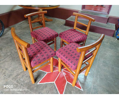 glasstop table with chair - Image 1/3