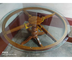 glasstop table with chair - Image 2/3