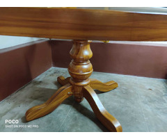 glasstop table with chair - Image 3/3