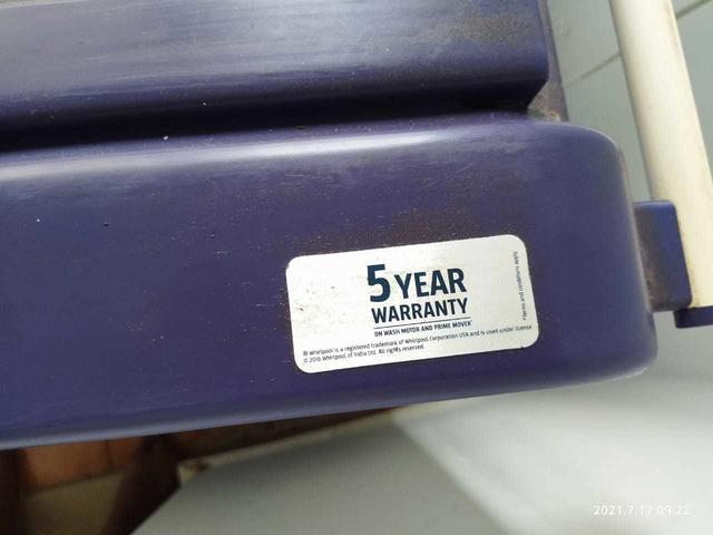 whirlpool wahing machine 7.kg - 3/7