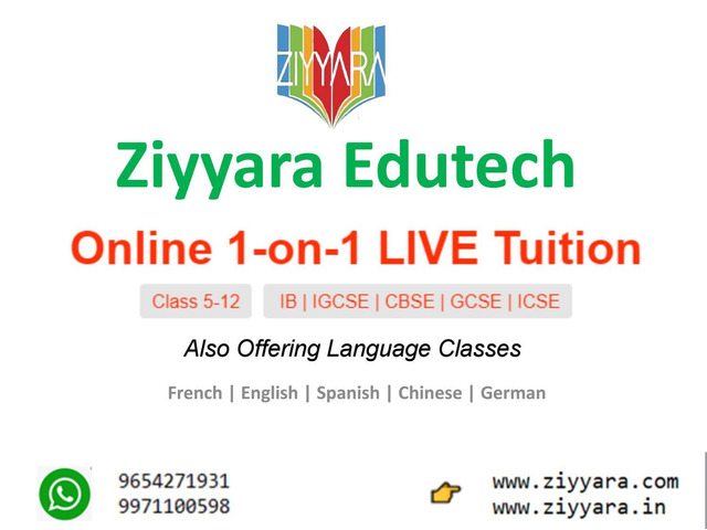 Get The Best One-On-One Live Online Tuition Classes - 1/4
