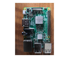 Raspberry Pi 3 Model B, with clear case, heatsink and 2.5 A adapter - Image 1/5