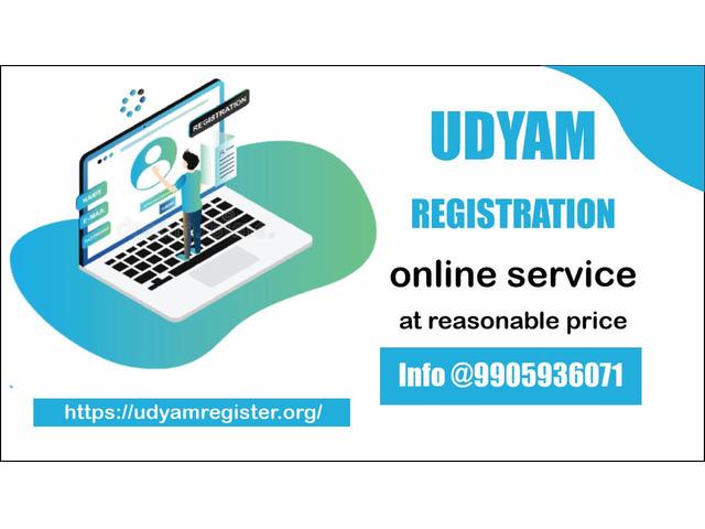 Online udyam Registration service at reasonable price @9905936071 - 1/1
