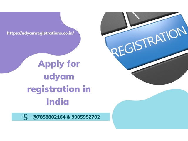 Apply for udyam registration in India @7858802164 & 9905952702 - 1/2