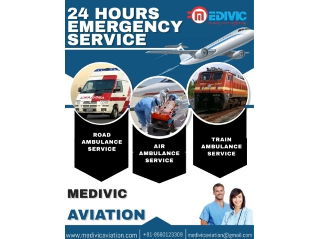 Splendid Air Ambulance Services in Ranchi by Medivic with All Useful Facility - 1/1