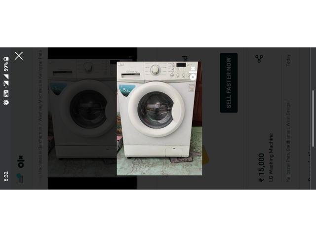 LG Front Load Washing Machine - 2/2
