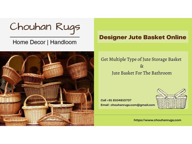 Huge Collection of Designer Jute Basket Online - Chouhan Rugs - 1/1
