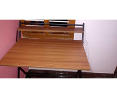 Study Table foldable brand new with full pacakage nilkamal brand walnut colour in good condition. A. - Image 2/10