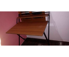 Study Table foldable brand new with full pacakage nilkamal brand walnut colour in good condition. A. - Image 3/10