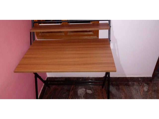 Study Table foldable brand new with full pacakage nilkamal brand walnut colour in good condition. A. - 6/10